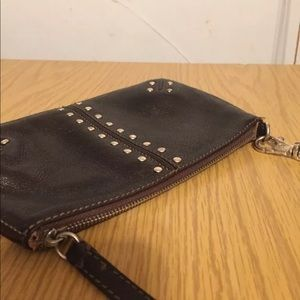 Micheal Kors stubbed leather wristlet